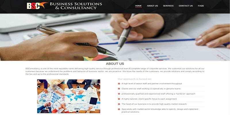 Design and Development of BS Consultancy Website: