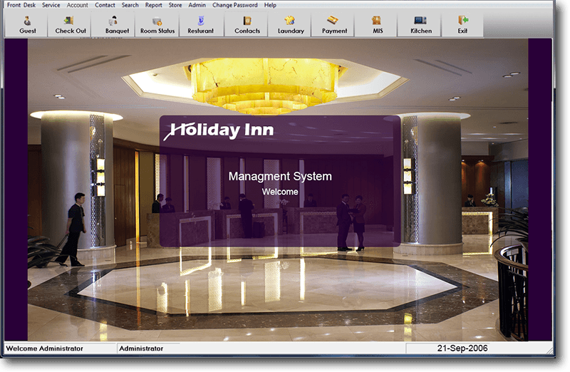 Hotel Management System, Holiday Inn: