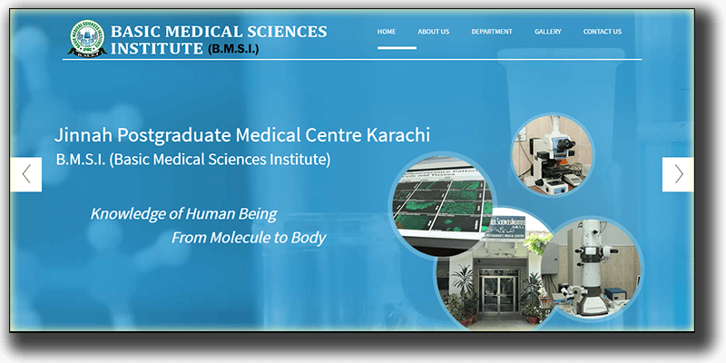 Design and Development of Basic Medical Science Institute, JPMC Website